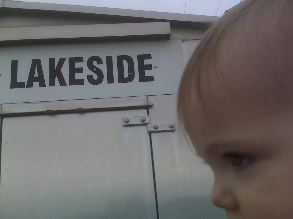 Livi and Datty checking out Lakeside.